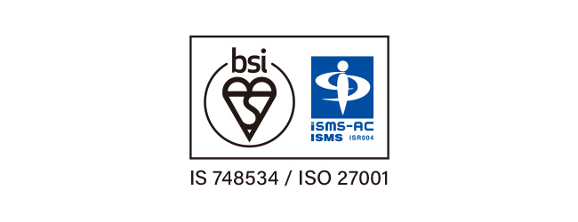 国際規格のISMS(情報セキュリティマネジメントシステム)認証を取得しました